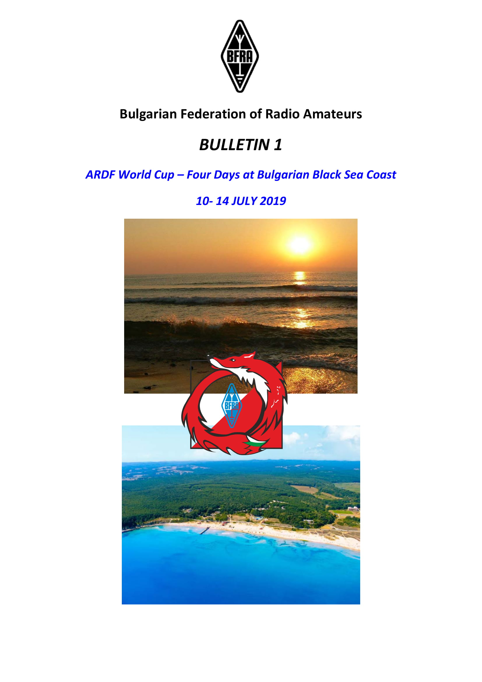 Bulletin 1 ARDF World Cup at Bulgarian Black Sea Primorsko 2019 1